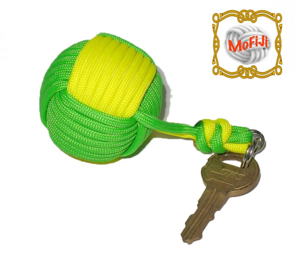 Green & Yellow Monkey Fist Boat key Bloat