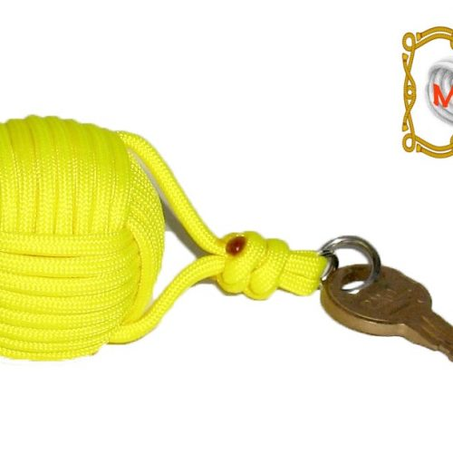 Yellow Monkey Fist Boat Key Float