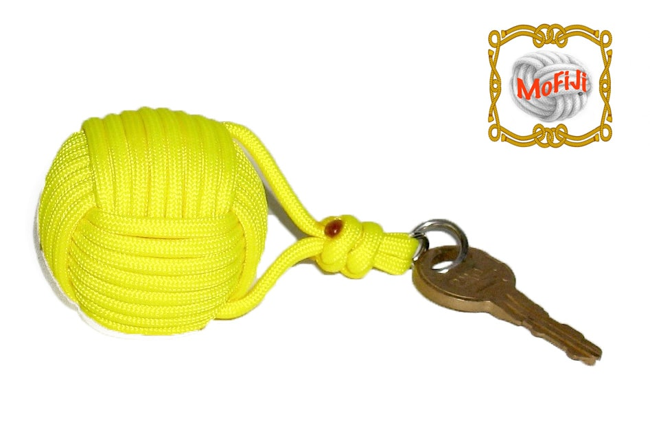 Yellow Monkey Fist Boat Key Float