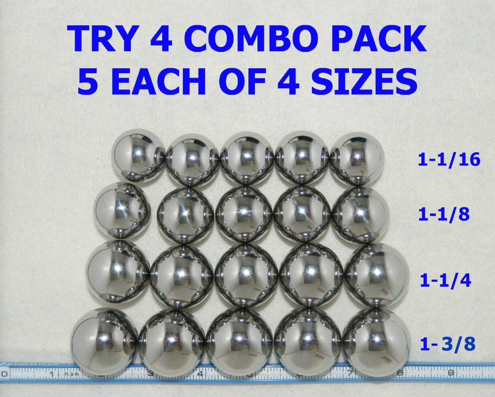 Try 4 Steel Ball Combination Pack